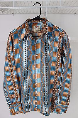 Vintage 60s 70s Fruit of the Loom Button Up Shirt Sz M