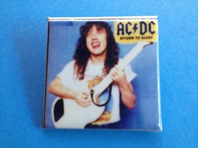 Vintage 1980's AC/DC Return To Glory Hard Rock Heavy Metal Pin Button A