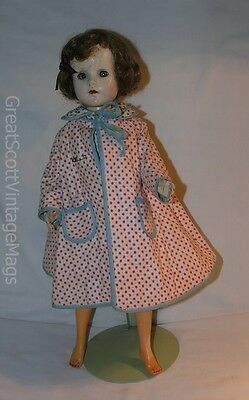 "1950s 19"" Unmarked Hard Plastic Sweet Sue Like Fashion Doll Gorgeous Mod Outfit"