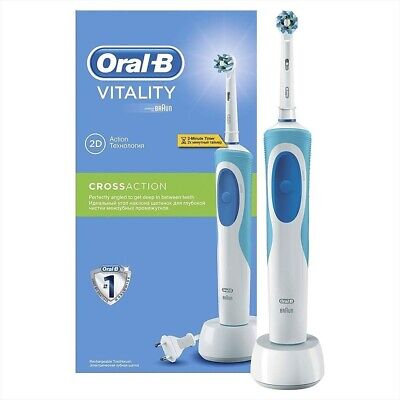 Braun Oral-B Vitality CrossAction Electric Rechargeable Power Toothbrush + Timer