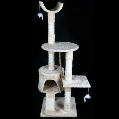 Cat Tree Scratching Post Activity Center Bed Climbing Cosy Play Tower 120Cm New