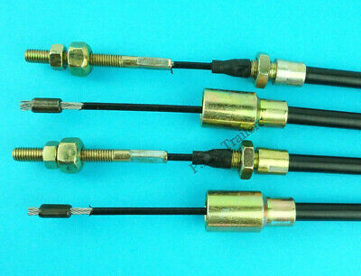 2 x Long Life 1990mm Trailer Brake Cables for Knott - Ifor Williams