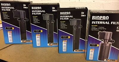 BioPro INTERNAL UNDERWATER AQUARIUM FISH TANK WATER FILTER PUMP UK PLUG FREE P&P