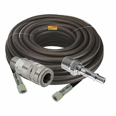 "Compressor Air Line Pure Rubber Hose 20M BSP 5/16"" ID 8mm Metre & Couplings 050B"