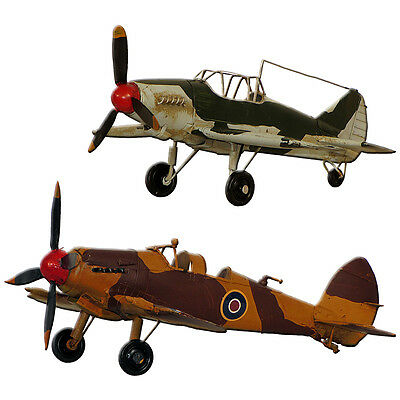 Collectable Metal Model Aeroplane Spitfire/Hurricane