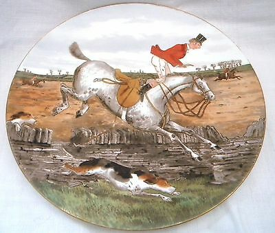 "Cauldon? Comical  Fox Hunting Scene 9.1/4"" Plate"