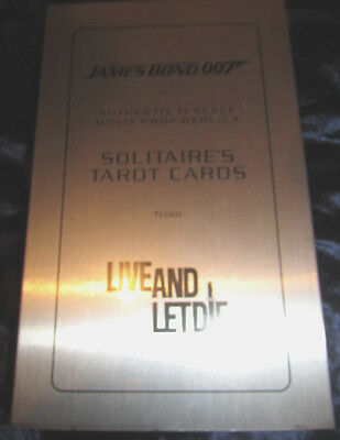 RARE - LIVE AND LET DIE - SOLITAIRE'S TAROT CARDS. Authetic 1:1 Scale Replica