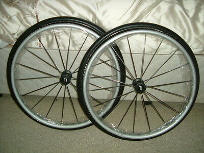 "Spinergy Carbon Blade-25""(559) Pair Of Wheelchair Wheels,Ti-Lite Pins,Shox Tyres"