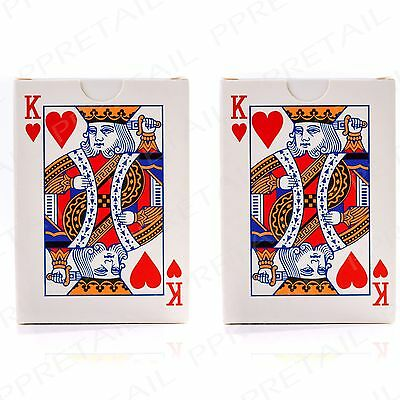 2 x Classic Playing Card Full Deck Set With Easy Read Jumbo Index Entertainment