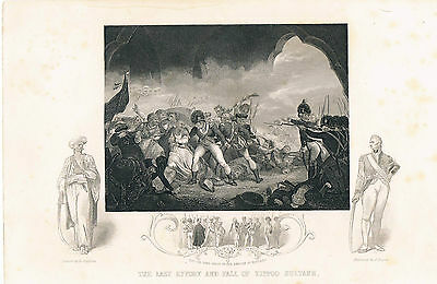 Engraving The Last Effort And Fall Of Tippoo Sultaun John Tallis And Co London