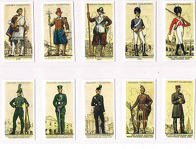 Card Collectors Society Players  Uniforms Of The Territorial Army Full Set Mint