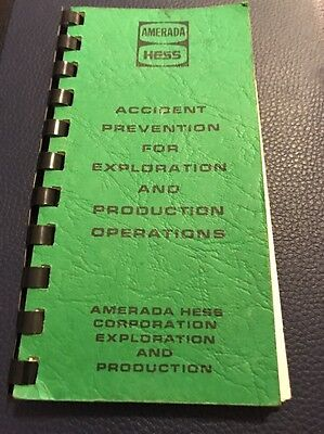 Employee Amerada Hess Gas Station Accident Prevention Manual book