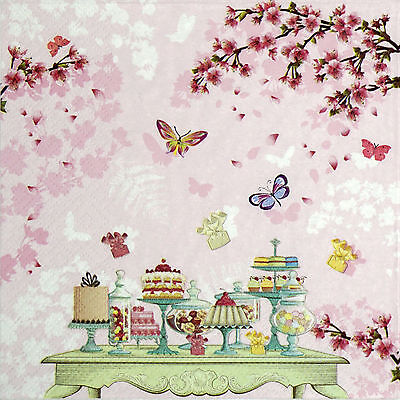 4x Paper Napkins for Decoupage Decopatch Craft Birthday