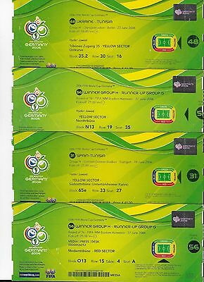 4 x UNUSED 2006 World Cup tickets: Germany 06