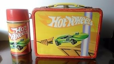 Vtg 1969 Hot Wheels Car Lunch Box w/ Thermos Great Condition See Pics!
