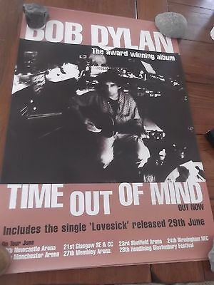 "Bob Dylan ""time Out Of Mind 1997 + U.k. Tour Dates"" Promo Poster"