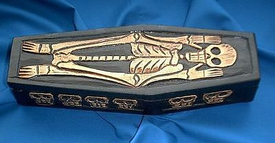1 x LARGE COFFIN BOX 250 mm Wicca Witch Pagan Goth RITUAL SPELL WORK