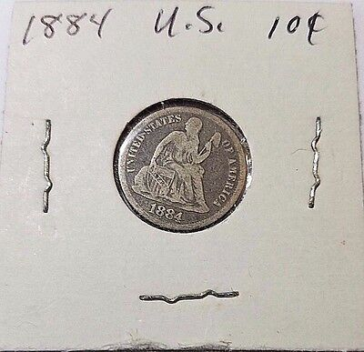 1884-P Seated Liberty Dime Silver 10c US Coin
