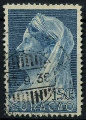 Curacao 1936-9 SG#163, 15c Blue Queen Wilhelmina Used #D43883