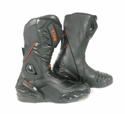Xtrm Blade Motorbike Motorcycle Sports Armour On Road Boots Black Uk Size 6
