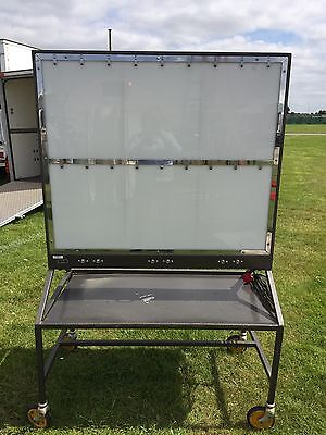 Mobile Hospital Medical  X ray viewing Box Quirky Art Display Trolley Vintage