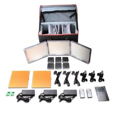 Aputure Amaran 3 Unit LED Light Panel Kit HR672S HR672W x 2 Lighting for Video