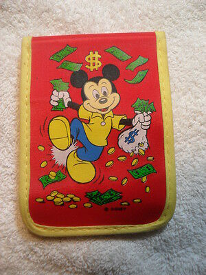 SCARCE! Walt Disney World Mickey Mouse Red Wallet - Excellent Condition!