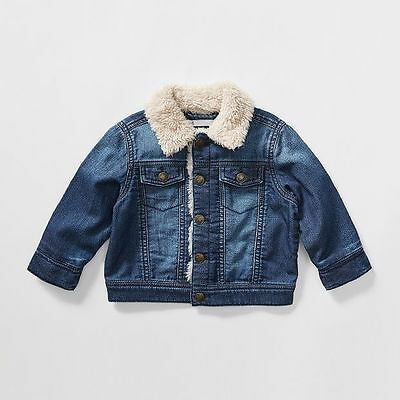 NEW Baby Knit Denim Sherpa Jacket