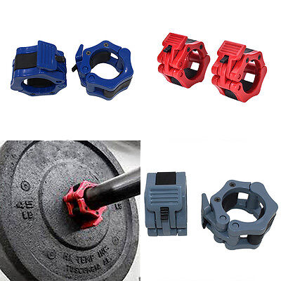 """2""""Lock Collars Standard Olympic Barbell Collars Weight Lifting Fitness Train ITB"""