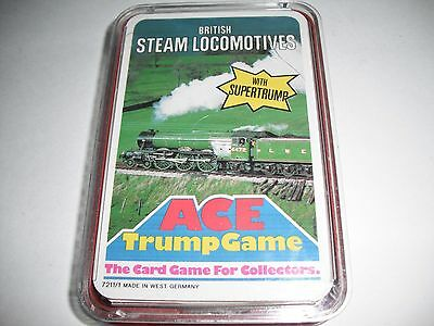 Ace Trump Collectors Card Game - British Steam Locomotives Trains - West Germany