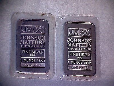 PAIR OF 1oz J&M BARS WITH TD LOGO.