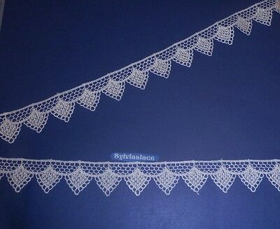 3 metres  of   Beautiful  White   Guipure   Lace        3 cm Wide