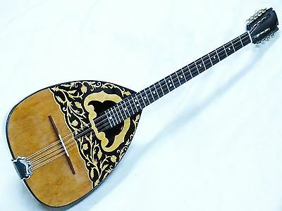 Unosell :: Greek Acoustic  Bouzouki  With Pick Up  And Softcase  New !!!!!!!!!!