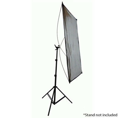 Portable Light Reflector System with 1.4m x 1m Gold/Silver Reflective Material