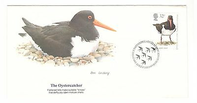 Great Britain Cover 1989 Non Addressed Fdc The Oystercatcher Beauty Cover
