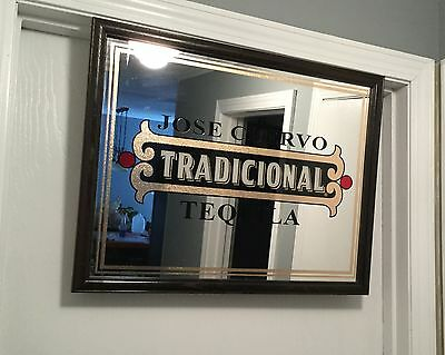 Jose Cuervo Tradicional Tequila Mirror - Bar Saloon Sign- Advertisement