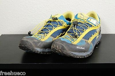 SALEWA Speed Ascent Fast Hiking Trail Shoes -Blue/Yellow -Mens US 11.5 (Euro 45)