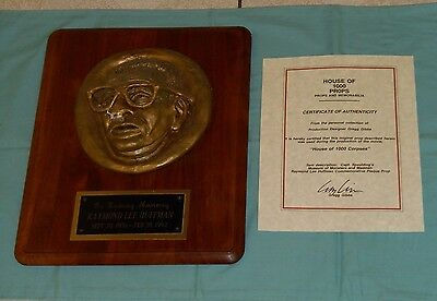 original HOUSE OF 1000 CORPSES RAYMOND LEE HUFFMAN PLAQUE screen-used movie prop