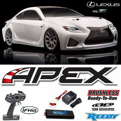 Team Associated Apex 1/10 Lexus RC F Brushless Car White RTR W/ Battery/Charger