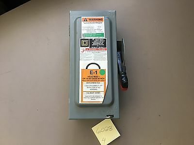 Square D Heavy Duty Safety Switch H321N 30A 240VAC Type 1 Enclosure  Used
