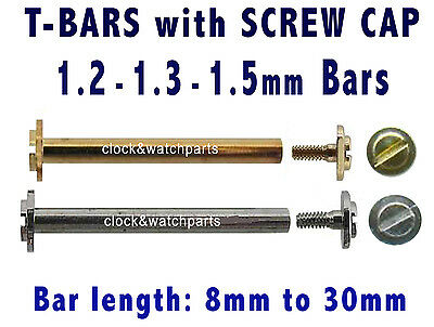 WATCH SCREW PINS x2, WATCH STRAP BAND SCREW BAR, WATCH BAR PIN with SCREW-IN CAP
