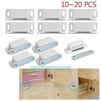 10~20x Magnetic Door Catch Latch For Kitchen Cabinet Cupboard Wardrobe Doors【UK】