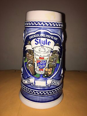 Old Style Chicago Ceramarte Stein Beer Mug #33223 1982 7.5 inches tall