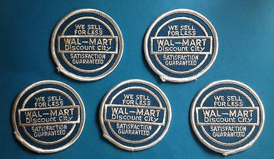 5 Lot Vintage Walmart Department Store Employee Uniform Work Shirt Patches