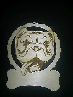 Personalized English Bulldog dog ornament