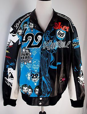 The Joker Lot 29 Embroidered Jacket DC Comics Batman Size 3XL Black Blue L29