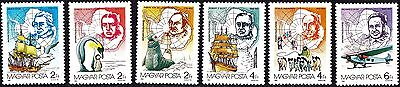 Hungary 1987  Antarctic Exploration Complete Set of Stamps MNH