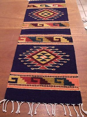 Hand Made Authentic Wool Zapotec Indian Oaxacan, Mexico Rug, Wall Hanging EUC!