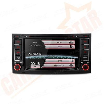 "XTRONS In Dash 2 DIN 7"" Car DVD Player Stereo Radio GPS Sat Nav for VW Touareg"