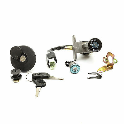 IGNITION BARREL SET KEY SWITCH Fits 50cc & 125cc Scooters See Picture In Advert